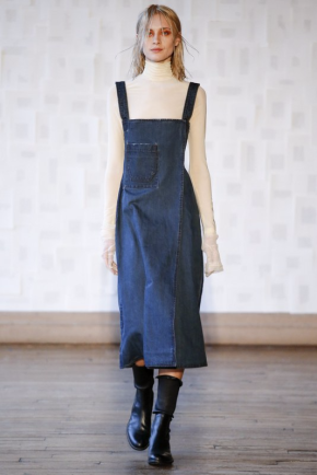 Image result for denim dress runway